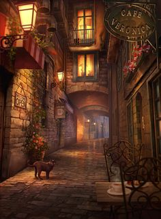 Fantasy Landscape, Fantasy City, Fantasy Places, Fantasy World, Fantasy House, Episode Backgrounds, Fantasie Welt, Anime Scenery, Environmental Art