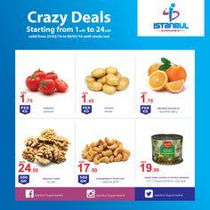 Crazy Deals at #IstanbulSupermarket has begun! What are you waiting for? Hurry and #shop while stocks last! العروض المجنونة في #سوبرماركت اسطنبول بدأت! ماذا تنتظرون؟! سارعوا للتسوق قبل نفاذ الكمية. #Offer #offers #offering #discount #sale #orderNow #sales #cheap #buy #shopping #free #dubai #sharjah #uae #عرض #تسويق #تسوق #سوق #مجانا #عروض #الامارات #الإمارات #دبي #الشارقة #الشارقه #اماراتي