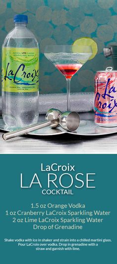 Skinny Holiday Cocktail with 4 simple ingredients using LaCroix as your 0 calorie mixer! Perfect low-calorie cocktail. ad