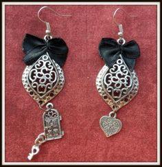 Pendientes estilo Vintage. Vintage earrings.