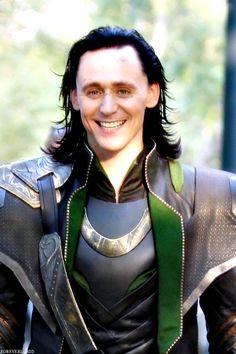 """Tom Hiddleston """"Loki"""" Yes done this a 100 times but just loves his face in it! From http://ladyhiddles.tumblr.com/post/94062997293"""