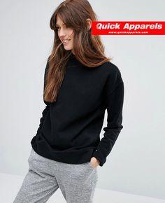 http://www.quickapparels.com/new-black-women-high-neck-sweatshirt.html