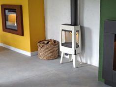 Estufa Dovre SENSE 103 Esmaltada crema en Ideas de Fuego.  www.chimeneasasturias.com