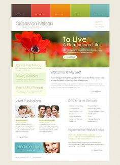 Website Template #31373  - I like the color scheme, would need to change the font css to be more business like. Also like the rollover box (clinical, anxiety...)