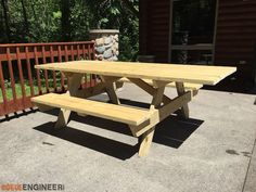 DIY Wheelchair Accessible Picnic Table - Rogue Engineer - This plan features step by step instructions and material list.
