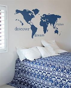 Paintspired details for all areas for Plascon South Africa. Plascon Paint, World Map Wall, Blue Rooms, Dream Decor, My Room, Room Inspiration, New Homes, How To Plan, Space