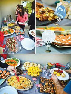 pinwheels-and-polkadots mini foods backyard party