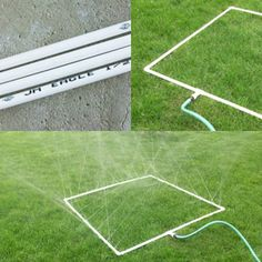 Another GENIUS PVC idea...PVC Pipe Sprinkler for kids to play in or water a garden.   https://www.facebook.com/groups/HandyMoms/