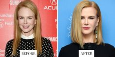 When: February 2015 What: A Long Bob Why we love it: The actress' short new cut makes her fine hair look thicker and the tucked-in ends give the illusion of bouncy volume. Plus, something about switching her part to the other side just feels cooler.   - HarpersBAZAAR.com
