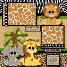 WHAT A ZOO girl 2 premade scrapbook pages paper piecing layout album CHERRY Baby Girl Scrapbook, Disney Scrapbook Pages, Kids Scrapbook, Scrapbook Paper Crafts, Scrapbooking Layouts, Scrapbook Cards, Paper Piecing, Cute Scrapbooks, Scrapbook Patterns