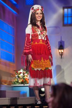Miss Universe National Costumes 2015 Bulgaria Miss Universe Costumes, Miss Universe National Costume, Miss Universe 2014, Folk Costume, Traditional Dresses, Girl Pictures, Funny Pictures, Most Beautiful Women, Pageant