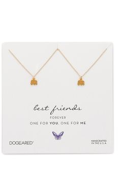 Best Friends Little Elephant Charm Necklace Set :: This is adorbs