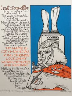 Alasdair Gray's reflection on Ozymandias, unveiled at the Saltire Society