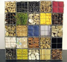 Gabione - diverse materialien drahtbehälter designs ideen garten