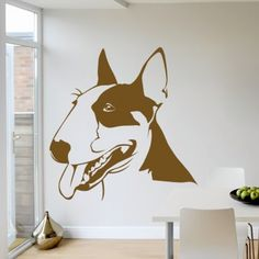 Bull Terrier Portrait Dogs Animals Wall Art Stickers Wall Decal - Bull Terrior - Dogs - Animals