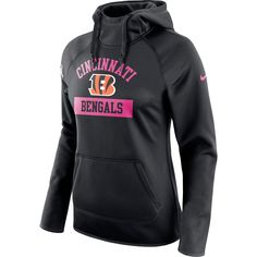 Cincinnati Bengals Nike Women s Breast Cancer Awareness Circuit Performance Pullover  Hoodie - Black 3cb577596