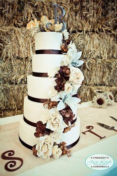 Western Wedding Cake and other Cowboy Cakes and Cupcake ideas ! Barn Wedding Cakes, Western Wedding Cakes, Western Cakes, Cowboy Cakes, Cowgirl Wedding, Country Wedding Cakes, Camo Wedding, Wedding Cupcakes, Rustic Wedding