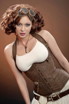 Meschantes Steampunk Distressed Vegan Leather Weskit Corset ––– Let's meet-up milady.