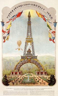 Just started reading 'Paris-The Novel' by Edward Rutherford & was introduced to Monsieur Eiffel | Universal Exposition Fair, Paris (1889)