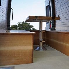 Van Conversions by Brawley Made and Vantage Point Custom vans, designing and building out custom cabinetry for these one-of-a-kind Sprinter van conversions. Sprinter Van Conversion, Custom Vans, Custom Cabinetry, Campervan, Van Life, Conversation, Woodworking, Building, Furniture