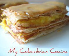 Milhojas Colombia, cocina, receta, recipe, colombian, comida.