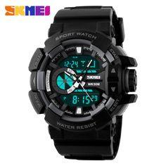 >> Click to Buy << relogio masculino Men Military Wristwatch Skmei Luxury Brand Fashion Digital Analog S Shock Watch Quartz Sports Watches #Affiliate