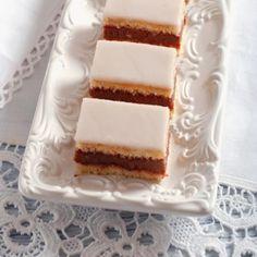 Recept, ktorý musí ovládať každá gazdinka: Domáce punčové rezy Sweet Desserts, Sweet Recipes, Cake Recipes, Czech Recipes, Ethnic Recipes, Vanilla Cake, Tiramisu, Cheesecake, Deserts
