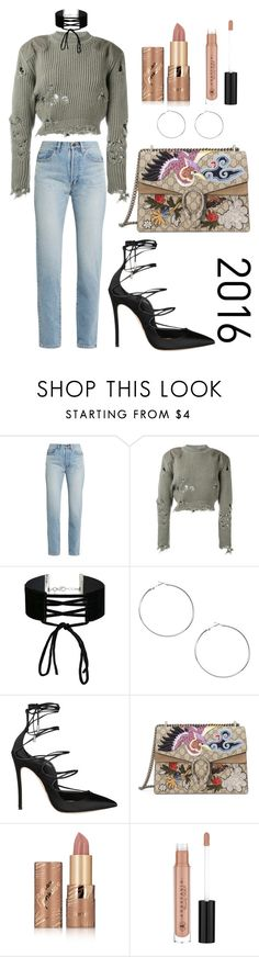 """2016"" by mta55 on Polyvore featuring Yves Saint Laurent, adidas Originals, Miss Selfridge, Dsquared2, Gucci, tarte and Anastasia Beverly Hills"