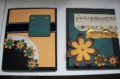 Graduation photo cards, yellow and teal, flowers