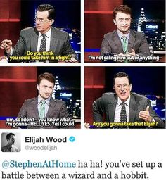 When Colbert started a war between two fandoms. | 25 Times The Internet Fell In Love With Daniel Radcliffe