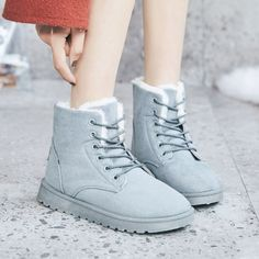 New winter women's casual shoes fashion high-top short boots warm snow Womens Fashion Casual Summer, Office Fashion Women, Black Women Fashion, Womens Fashion For Work, Fashion Belts, Fashion Shoes, Women's Fashion, Casual Shoes, Women's Casual