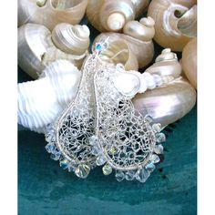 Chantilly Lace Crochet Wire Earrings or Pendant | JewelryLessons.com