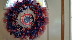 Chicago Cubs Ribbon Wreath