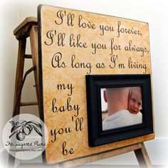 New Dad Gift For Baby Personalized Custom by thesugaredplums, $75.00