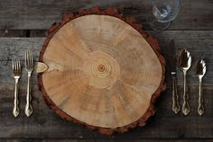 """9""""-10"""" Rustic Wood Tree Slice Charger Wedding Cake Base or Cupcake Stand - Thanksgiving Christmas Party Event Place Setting - $24.99 https://www.etsy.com/listing/163138461/reduced-price-9-10-rustic-wood-tree?ulsfg=true"""