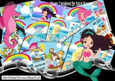 12 8x8 of mermaids pirates dolphins noahs ark bumper kit on Craftsuprint - Add To Basket!