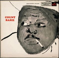 Cover of Count Basie (RCA Victor), illustration by Andy Warhol, 1955