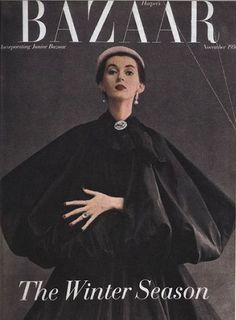 This was a Harpers Bazaar winter issue of the 1950s. This issue was released in the month of November.