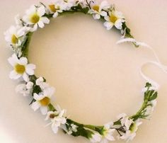 Wedding hairwreath Bridal Daisy Headpiece silk daisies flower Crown | AmoreBride - Accessories on ArtFire