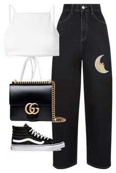 """Untitled #1564"" by deamntr ❤ liked on Polyvore featuring Ack, Gucci and Vans"