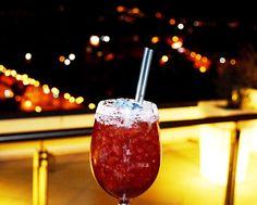 """Red velvet"" with masticha, grapa, lime and raspberries! Raspberries, Caramel Apples, Restaurant Bar, Red Velvet, Lime, Cocktails, Desserts, Food, Craft Cocktails"