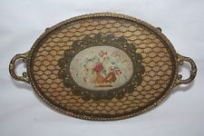 vintage glass lace vanity tray - Google Search