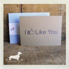Adorable Facebook themed notecards - would be perfect for Valentine's Day, also!