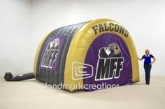 Intimidating football entrance inflatables