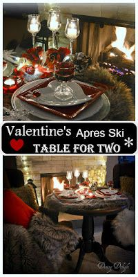 Dining Delight: Valentine Apres Ski Table for Two