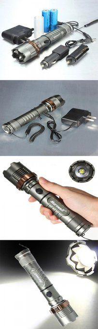 3 Mode 1500LM Waterproof Lotus Head LED Flashlight Suit Gray   #Waterproof #LED #Flashlight  #LEDFlashlight