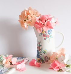 paper hydrangea tutorial from a petal unfolds