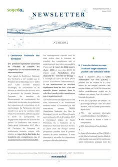 Newsletter numéro 2 02 01 18