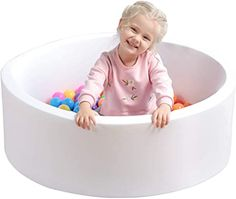 White TRENDBOX Soft Foam Sponge Indoor Round Ball Pit Shipped from USA