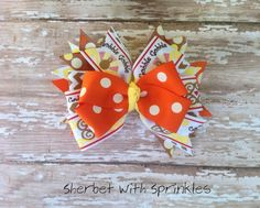 Thanksgiving Layered Pinwheel Hair Bow by sherbetwithsprinkles, $6.50